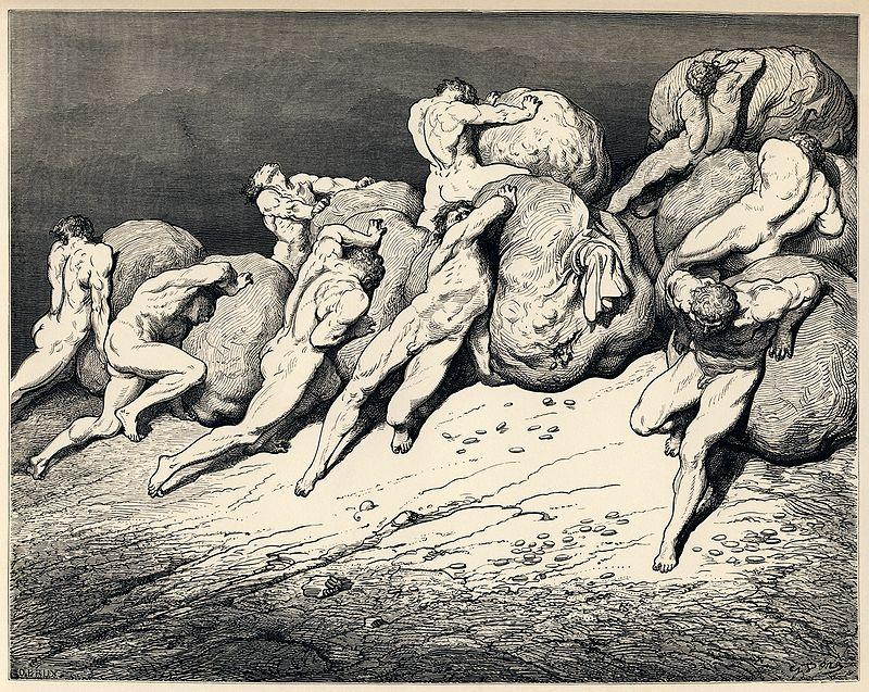 800px-Gustave_Doré_-_Dante_Alighieri_-_Inferno_-_Plate_22_(Canto_VII_-_Hoarders_and_Wasters)