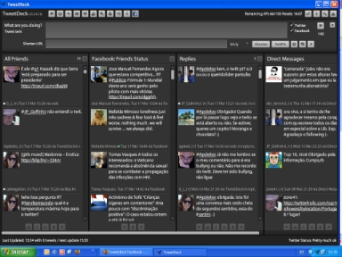 o interface do TweetDeck