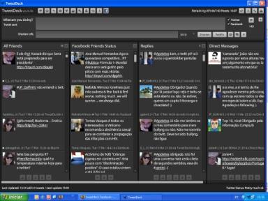o interface do TweetDeck