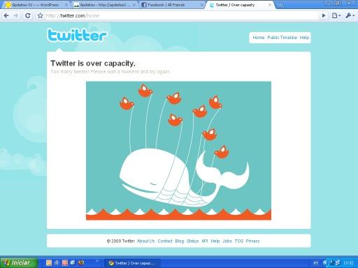 a Twitter entupida; click para aumentar a imagem