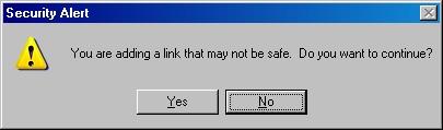 click em yes para aceitar a instalação do botão