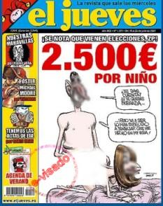 cartoon de El Jueves, e-visado por Apdeites