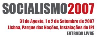 recorte do programa do evento Socialismo 2007, organizado pelo Bloco de Esquerda