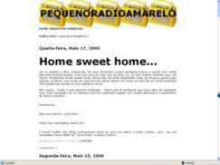 Pequeno Rádio Amarelo